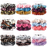 23 Style 3pcs set Girls Ponytail Holder Hair Scrunchies Velv...