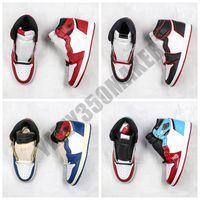 Corduroy colorido 2019 Jumpman Melhores Qualidade 1 1s NRG tênis de basquete alta quebrado encosto Sombra Multicolor Sneakers BV1300-106