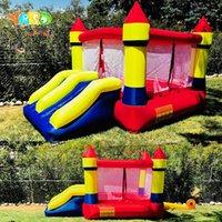 Quintal Dual Slide Bouncy Castle Inflatables Jumping Pool Feliz Parque de Diversões Para Crianças Exercício Saudável