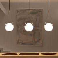 İskandinav Cam Top Kolye Işık Modern Yuvarlak Küresel Asılı Işık / sarkıt Dekoratif Sarkıt Aydınlatma Armatürü