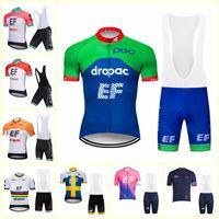 2019 EF Eğitim Ilk takım Bisiklet Kısa Kollu forması bib şort setleri Sıcak erkekler MTB Hızlı kuru Nefes bisiklet spor ropa ciclismo U51705