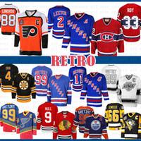 99 Brian Leetch 뉴욕 레인저스 Messier Wayne Gretzky 몬트리올 Canadiens Patrick Roy 88 Eric Lindros 필라델피아 전단지 하키 유니폼