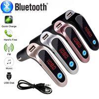 Autozubehör Bluetooth Adapter S7 FM Transmitter Bluetooth Car Kit Freisprecheinrichtung FM Radio Adapter mit USB Ausgang Autoladegerät mit Retail Box