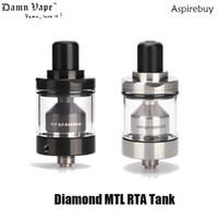 くそーヴェイプダイヤモンドMTL RTAタンク2ml 3.5ml eジュース容量なし拡散エアフローシステム510デルリンドリップチップ22mm直径100%オリジナル