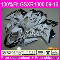 K9 For SUZUKI GSX-R1000 GSXR 1000 09 10 11 12 13 15 16 13HM.6 Hot White SALE GSX R1000 GSXR1000 2009 2010 2011 2012 2014 2015 2016 Fairing