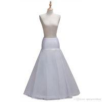 2018 1 aro Una Falda Accesorios Línea Uno de tul blanco satinado boda del borde de la enagua de la crinolina de la enagua de la boda boda CPA1338