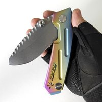 Limited Edition Rogue Shark Custom Knives SCK Folding Knife High Quality Outdoor Equipment Tactical Camping Pocket EDC Strong CPM-S35VN Blade TC4 Titanium Frame