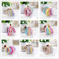 2020 10PCS lot Baby Girls Candy Color Elastic Hair Bands Children Rubber Ponytail Hairband Scrunchie Spring Kids Hair Rope Accessories E3605