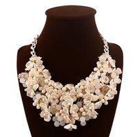Мода женское ожерелье многоцветный цветок преувеличение ожерелье подходит для многих случаев носить женские аксессуары бесплатная доставка