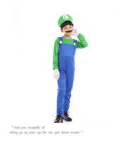 Хэллоуин Cosplay Super Mario Bros Cosplay танцевальный костюм набор детей Хэллоуин Mario Luigi Костюм для взрослых и детей подарков