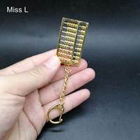 Mini Abacus Arithmétique Mathématiques Outils de calcul jouet éducatif chinois Culture Collection Hobby Cuivre Modèle Métal Toy Nouveauté