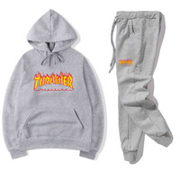 Mens Tracksuit Fashion Designer Hoodies+ pants 2 Piece Sets S...