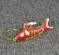 5.5 سنتيمتر 8.5 سنتيمتر حية سوينغ الحيوان كوي الأسماك المفاتيح كيرينغ لطيف المينا محظوظ الكارب الأسماك سلاسل المفاتيح للنساء الرجال هدايا عيد الميلاد مع مربع