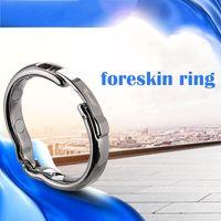 Хорошо подходит для мужской металлической коррекции крайней плоти кольцо пениса регулируемый размер головки Магнит физиотерапия петушиное кольцо для мужчин секс игрушки продукты