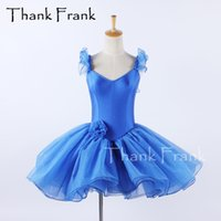 Solid Blue Ballet Tutu Dress Girls Women Ruffle Sleeves Ballerina Costume Child Dance Dresses Adult Elegant Rave Stagewear C631