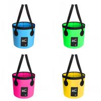 휴대용 여행 가방 Foldable 낚시 양동이 방수 배럴당 비치 도구 클립 그물 재료 녹색 푸른 14 99ba2 C1