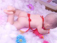 """18 """"/ 46cm 3.2kg / 7.1lb 전신 솔리드 소프트 실리콘 리얼 아기 소녀 인형 장난감"""