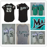 Florida Vintage Jersey Basebol Baseball Andre Dawson Jose Fernandez Miguel Cabrera Dontrelle Willis Livan Hernandez Giancarlo Stanton Ramirez