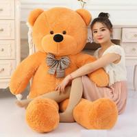 100 baumwolle hellbrauner riesige 100 cm süße plüsch teddybär riesiges weiches spielzeug