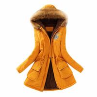 CHAMSGEND 2019 Nouvelle Parkas Femme Manteau d'hiver Épaissir coton Veste fourrure Manteaux Manteaux Faux femmes pour les femmes Gros Pardessus 1106