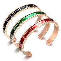 Mujer Velocímetro multifuncional Poder Pulsera Vners Reloj Cuff Joyería Acero inoxidable Chapado en oro rosa Joyería italiana Hombre Velocímetro