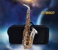 ياناجيساوا A-W037 جديد ألتو إب لهجة الفضة مطلي ساكسفون الذهب مفتاح النحاس ساكس موسيقية مع قفازات حالة المعبرة