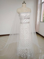 2020 fashion Luxury wedding cape veil, large bridal Cape clos...
