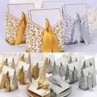 Altın Kutusu Hediye Paketi Düğün Favor Çanta Tatlı Kek Hediye Şeker Kağıt Kutular Çanta Yıldönümü Partisi Doğum Bebek Kutusu XD21476 Presents