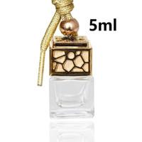 Leere Glasflasche Auto Hängender Parfüm Rückspiegel Ornament Lufterfrischer Für ätherische Öle Diffusor Duft Car-Styling