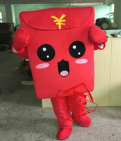 NEW STYLE Red Envelope cartoon Mascot Costume Fancy Dress An...