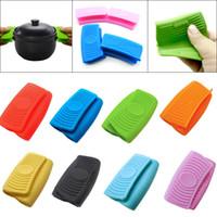 Forno Mini Luvas de Silicone Heatproof Anti-escalda Luvas para cozinhar titulares braçadeira pote e Potholders alta qualidade