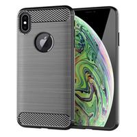 소프트 TPU 실리콘 케이스 브러쉬 - 마침 전화 커버 아이폰 XS MAX XS XR X 7 8 6 삼성 J4 플러스 2018 화웨이