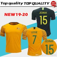 a293f17b8 New Arrival. world cup 2018 Australia soccer jersey home yellow away green  18 19 JEDINAK LECKIE MILLIGAN CAHILL ...