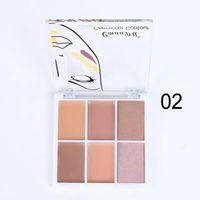 Crème professionnelle CmaaDu 6 couleurs Palette Contour Palette Correcteur Maquillage Maquillage Cosmétique Cosmétique Soin du Visage Crème DHL