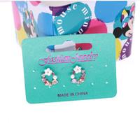 يمكن أن العلامة أزياء مسمار القرط بطاقة بطاقة عيد الميلاد Handmand بطاقة العلامة المجوهرات مجموعة القرط عرض 200PCS كوستوميد شعار