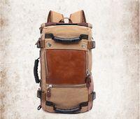 Versão Designer-ocasional coreana de mochila de lona bolsa de ombro multi-função personalizada ocasional mochila de viagem dos homens de grande capacidade