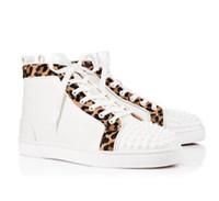 공장 가격 도매 높은 탑 스파이크 디자이너 레드 바닥 스니커즈 신발 완벽한 품질 여성, 남성 캐주얼 산책 (17 개) 색상 스타일 레저