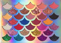 2019 Yeni Yüksek kaliteli 32 renk Moda Kadınlar Güzellik Cleof Kozmetik The Mermaid Glitter kare Paleti Göz Makyajı Göz Farı Paleti