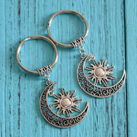 Модные украшения европейских и американских ювелирных изделий богемский Hollow Sun Moon брелок Crescent брелок Charm подвеска брелок 455