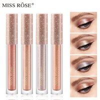 Miss Rose Glitter Glow Liquid Eye Shadow Shimmer Shiny Paillettes Eyeshadow Liquid 12 Colori Pearlescent Diamond Makeup Cosmetic