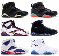 Nike Air Jordan Alta calidad 7 7s Patta Bordeaux Hare Ray Allen Tinker Alternate Olympic Men Shoes French Blue Barcelona Nights Sneaker