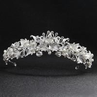 Acessórios Evening Partido Marca prata Handmade New nupcial do casamento de Cristal Rhinestone headband headpiece Coroa Tiara Prom Pageant