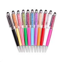 القلم ستايلس كل من القلم والكرة العادي نقطة الكتابة القلم 2 في 1 الماس كريستال بالسعة القلم touch قلم حبر جاف فون باد الكمبيوتر