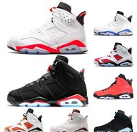 Best 6 black cat mens basketball shoes 6s UNC Infrared sneak...