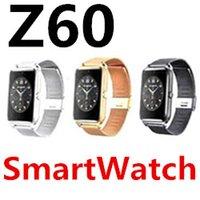 Z60 Smart Watch телефон из нержавеющей стали Bluetooth DialAnswer Call поддержка SIM TF карты камера фитнес трекер водонепроницаемый для Android