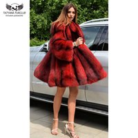 Tatyana furclub réel Manteau de fourrure de luxe de haute qualité naturelle d'argent Manteau de fourrure avec capuche épais chaud Veste d'hiver Toute la peau