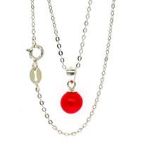 925 gioielli in argento puro collana popolare in Europa e negli Stati Uniti creativo naturale perla d'acqua dolce ciondolo collana semplice vendita calda