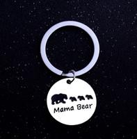 4Diseño Mama Bear Impresión Cadena de Aleación Mamá Animal Oso Nuevo llavero Creativo Lindo Bolso Del Coche Pequeño Regalo Seguro llavero 120 unids HYS229