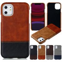 50 pezzi vendita mista per iPhone 11 Pro X XR XS Max 6 7 8 Inoltre Crazy Horse cassa del grano Cuciture doppio colore della copertura posteriore di PC Phone