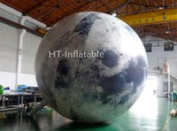 شحن مجاني 2M / 3M / 4M / 5M / 6M العملاق LED نفخ القمر غلوب الهليوم بالون القمر الكبير حدث نفخ الكرة الخفيفة